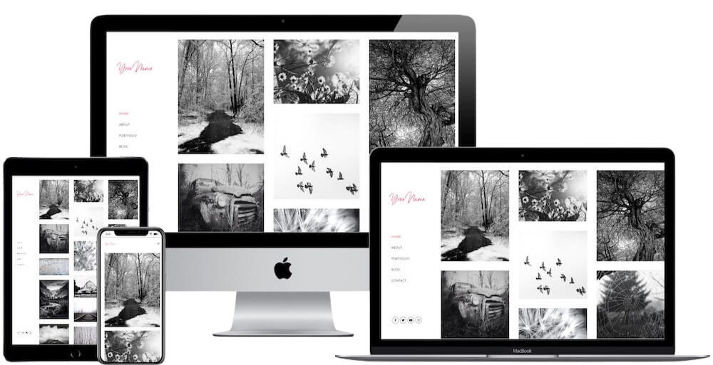 Lerdahl Web Design website shown on different devices